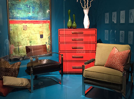 Tangerine Leather Is Accented With Mahogany Trim In A Dark Walnut Finish;  Solid Brass Hardware In A Bright Brass Finish; And 5 Drawers U2013the Top  Drawer Felt ...
