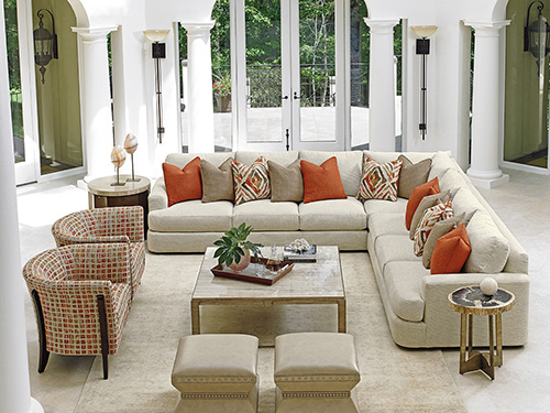 In More Casual Environments, We Are Seeing Pops Of Colors Added Through The  Use Of Accent Pillows And Chairs, Again Keeping The Foundation In A Neutral  Tone ...