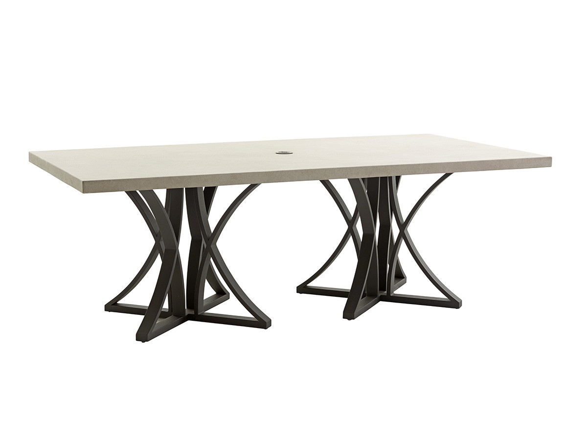 Cypress Point Ocean Terrace By Tommy Bahama Outdoor Dining Table W Weatherstone To