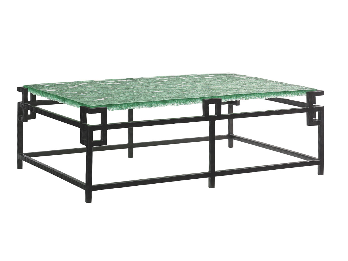 Hermes Reef Glass Top Cocktail Table Lexington Home Brands