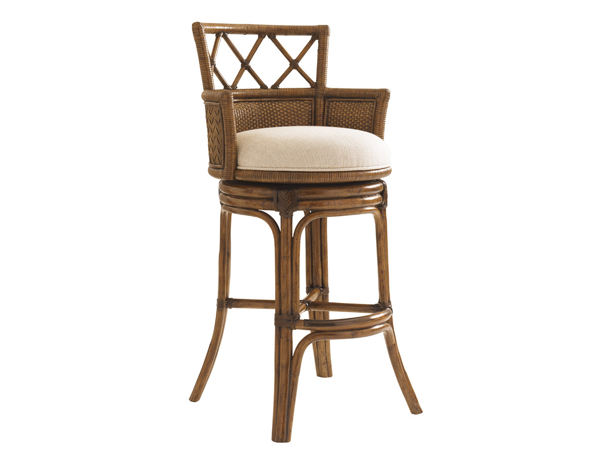 Kamala Bay Swivel Bar Stool Lexington Home Brands