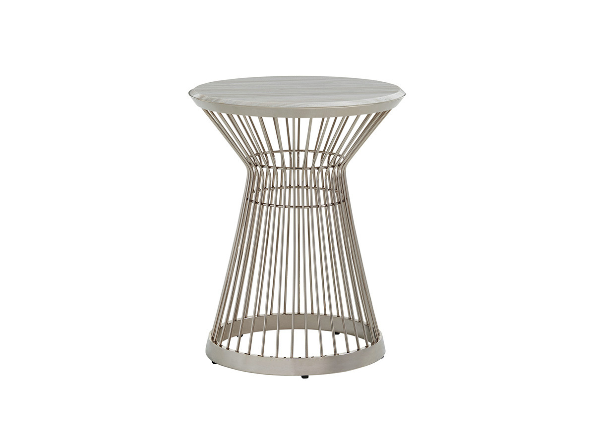 cf8b2591520 Ariana by Lexington. Martini Stainless Accent Table