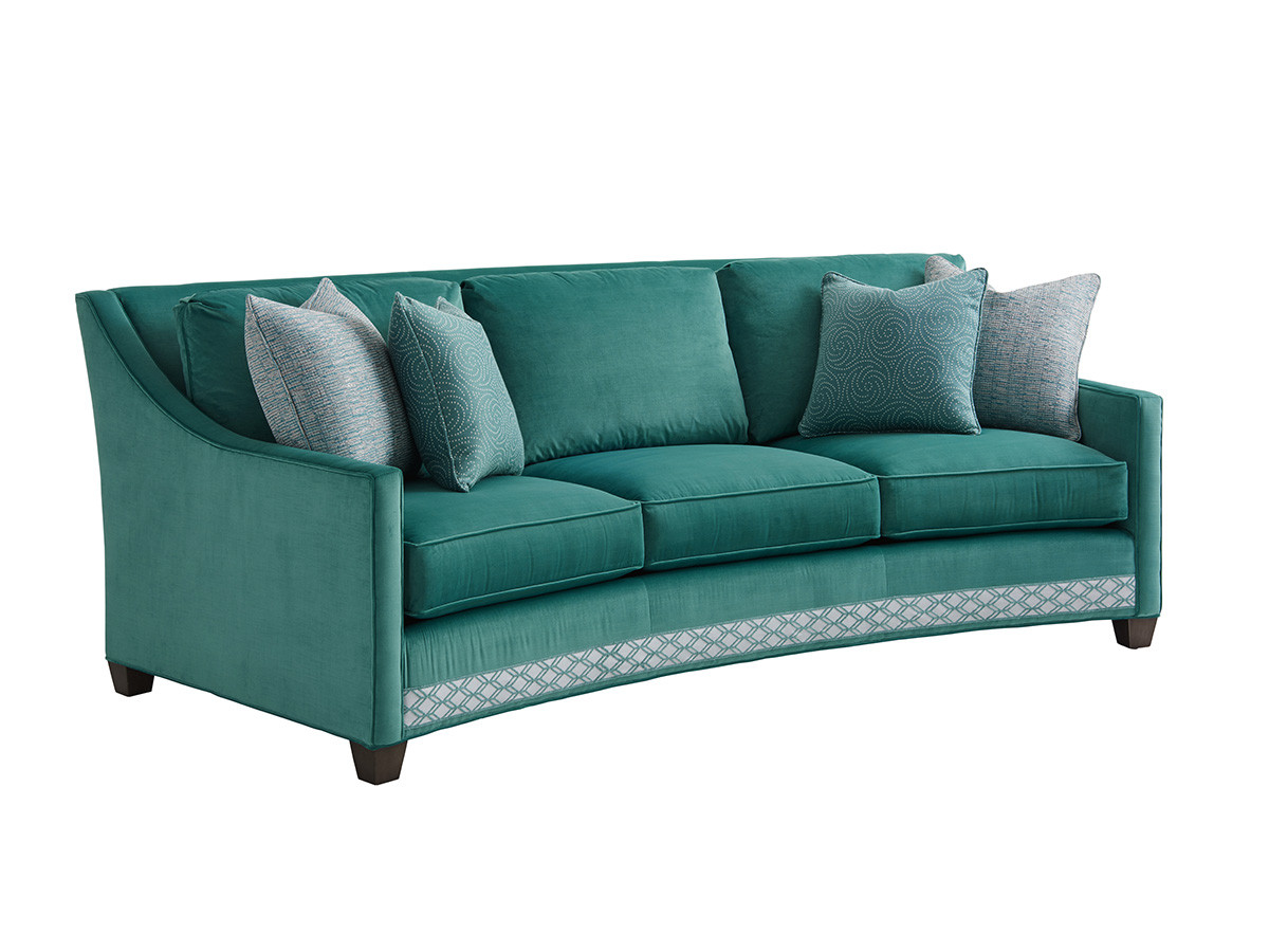 Valenza Curved Sofa Lexington Home Brands