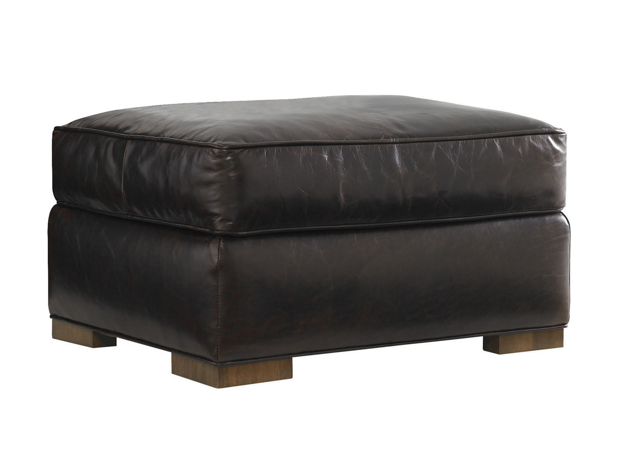 Astounding Edgemere Leather Ottoman Lexington Home Brands Pdpeps Interior Chair Design Pdpepsorg