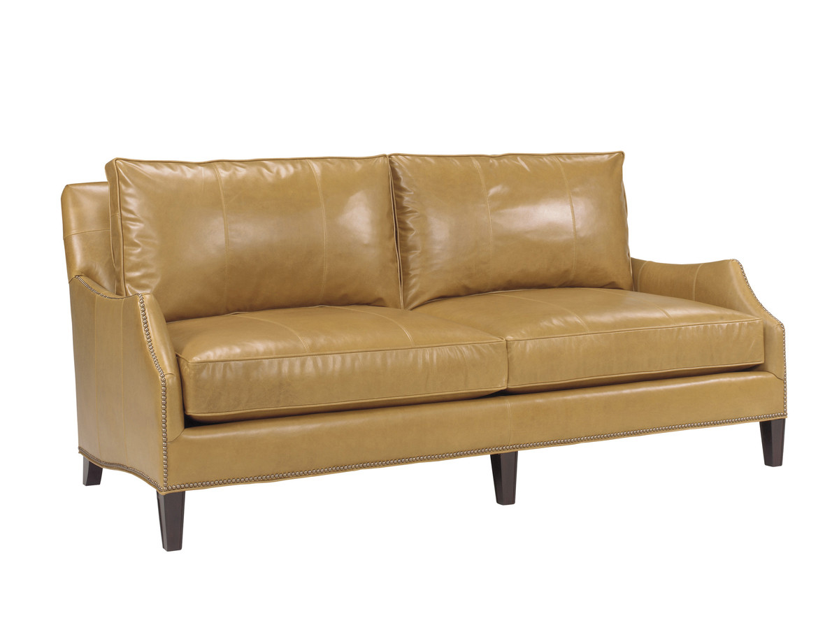 Ashton Leather Demi Sofa Lexington Home Brands