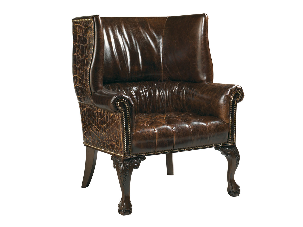 Cardiff Leather Chair Lexington Home Brands