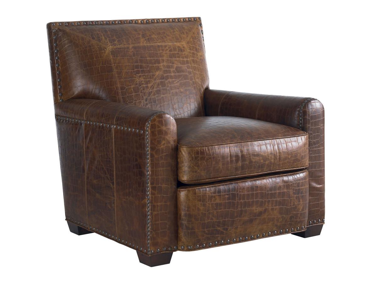 Magnificent Stirling Park Leather Chair Lexington Home Brands Machost Co Dining Chair Design Ideas Machostcouk