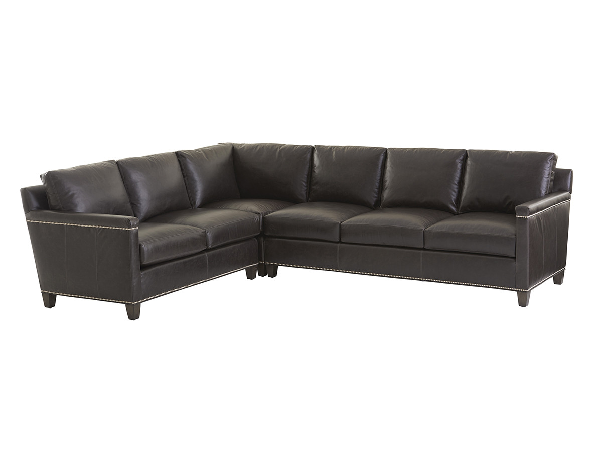 Incredible Strada Leather Sectional Lexington Home Brands Gamerscity Chair Design For Home Gamerscityorg
