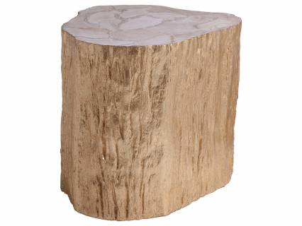 Trunk Segment Side Table  Leaf