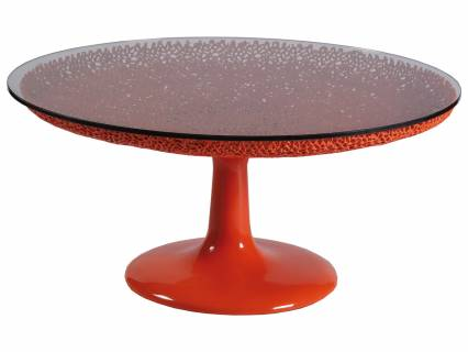 Seascape Round Orange Cocktail Table