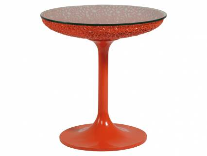 Seascape Round Orange Spot Table