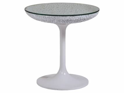 Seascape Round White Spot Table