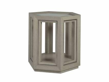 Zeitgeist Linen Hexagonal End Table