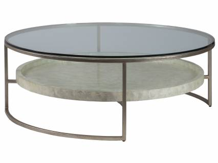Cumulus Capiz Large Round Cocktail Table