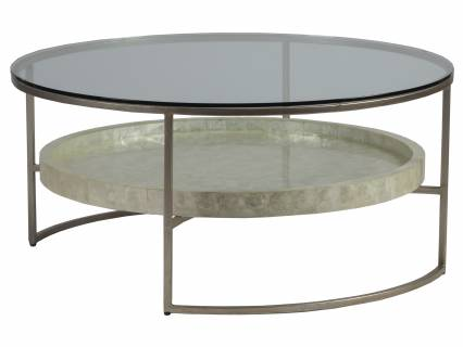 Cumulus Capiz Round Cocktail Table