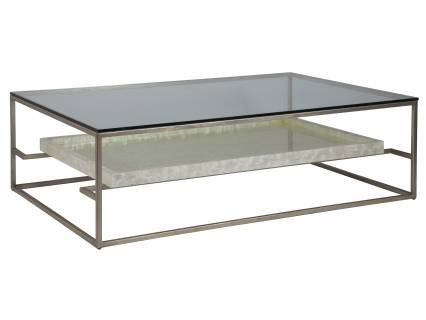 Cumulus Capiz Large Rectangular Cocktail Table