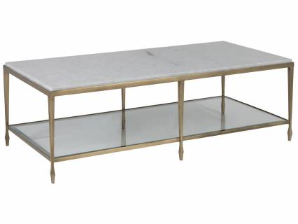 Sashay Gold Rectangular Cocktail Table