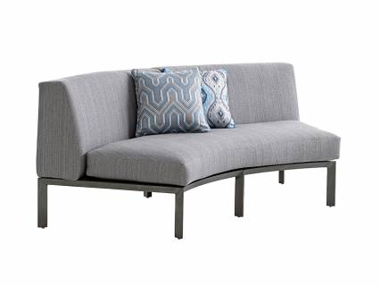 Curved Sectional Love Seat