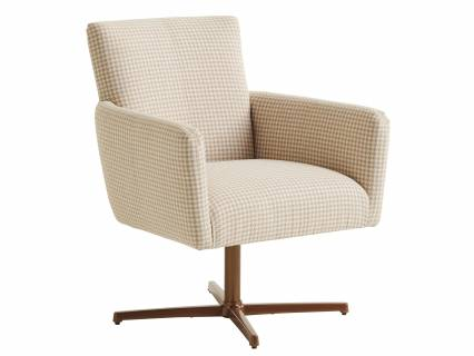 Brooks Swivel Chair - Calais Brass