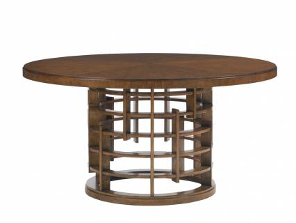 Meridien Round Dining Table With Wooden Top