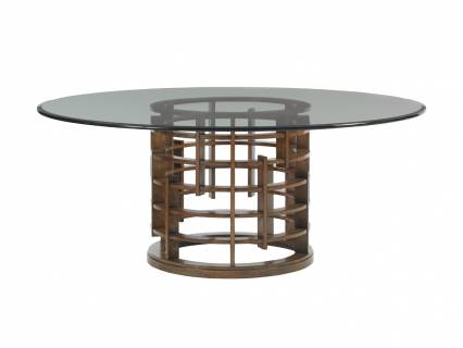 Meridien Round Dining Table With Glass Top