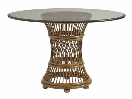 Aruba Dining Table With 48 Inch Glass Top