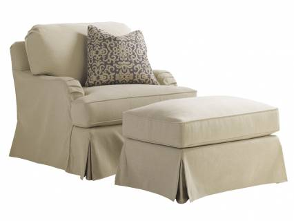 Stowe Swivel Slipcover Chair - Khaki