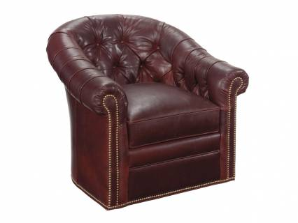 Robinson Leather Swivel Chair