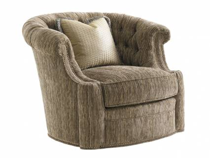 Feroni Leather Swivel Chair