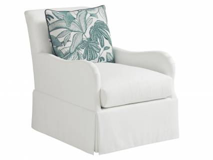 Palm Frond Swivel Chair