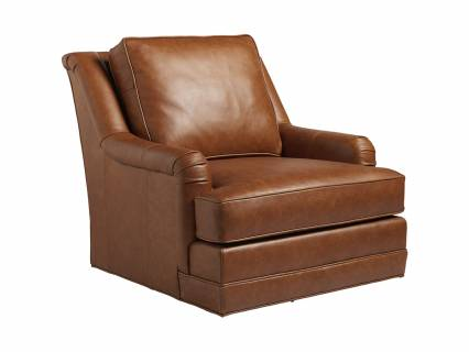 Benton Leather Swivel Chair