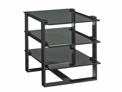 Rhodium Rectangular End Table