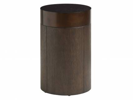 Black Diamond Round End Table