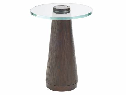 Apex Glass Top Accent Table