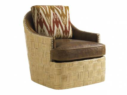 Byron Bay Leather Swivel Chair