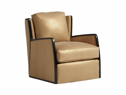Delancey Leather Swivel Chair