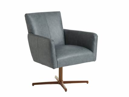 Brooks Leather Swivel Chair - Calais Brass