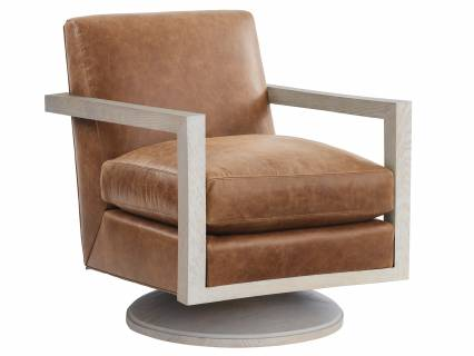 Willa Leather Swivel Chair