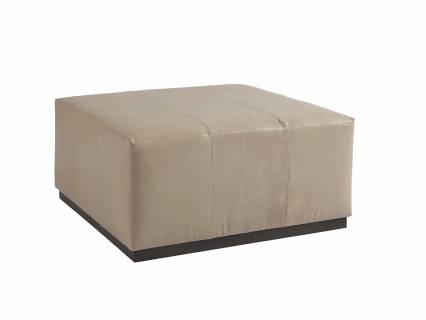 Clayton Leather Cocktail Ottoman