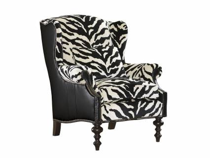 Wells Leather Wing Chair