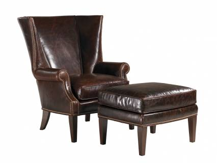 Lowell Leather Dining Chair Lexington Home Brands
