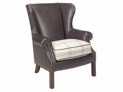 Logan Leather Wing Chair