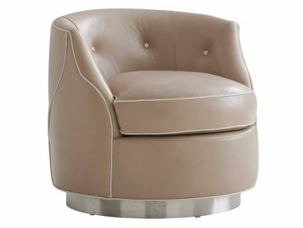 Robertson Leather Swivel Chair