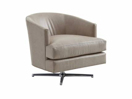 Graves Leather Chair Polished Chrome Base
